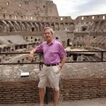Dr Franklyn Elliott at Roman Colosseum